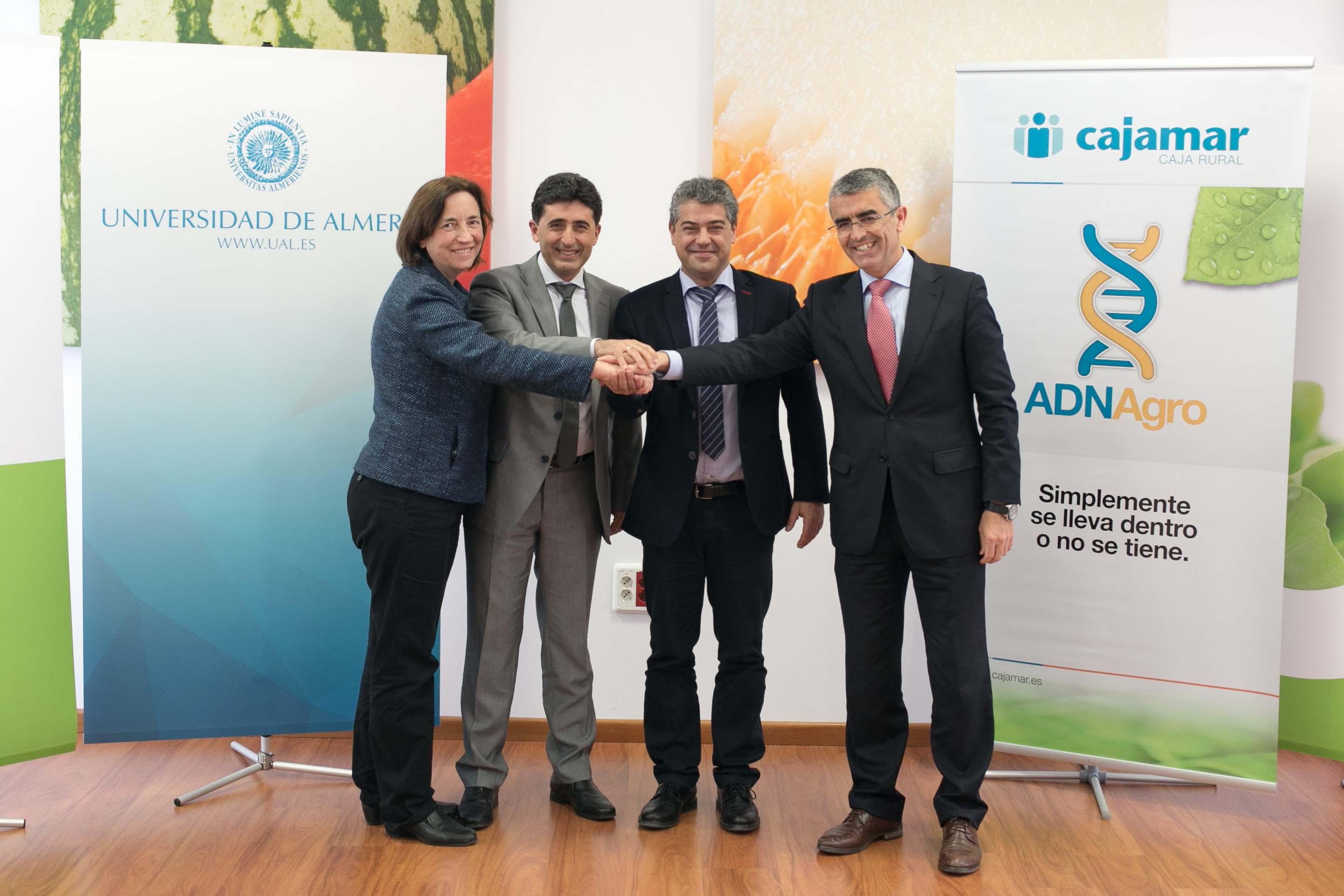 La UAL, Cajamar y Rijk Zwaan suscriben un convenio para fomentar la investigación científica