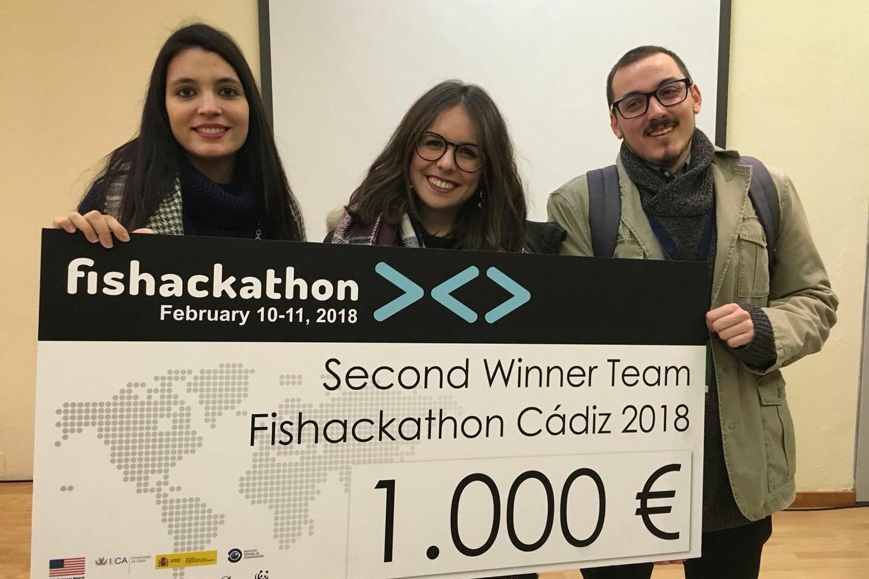La UAL gana el segundo premio en la competición Fishackathon Cádiz 2018