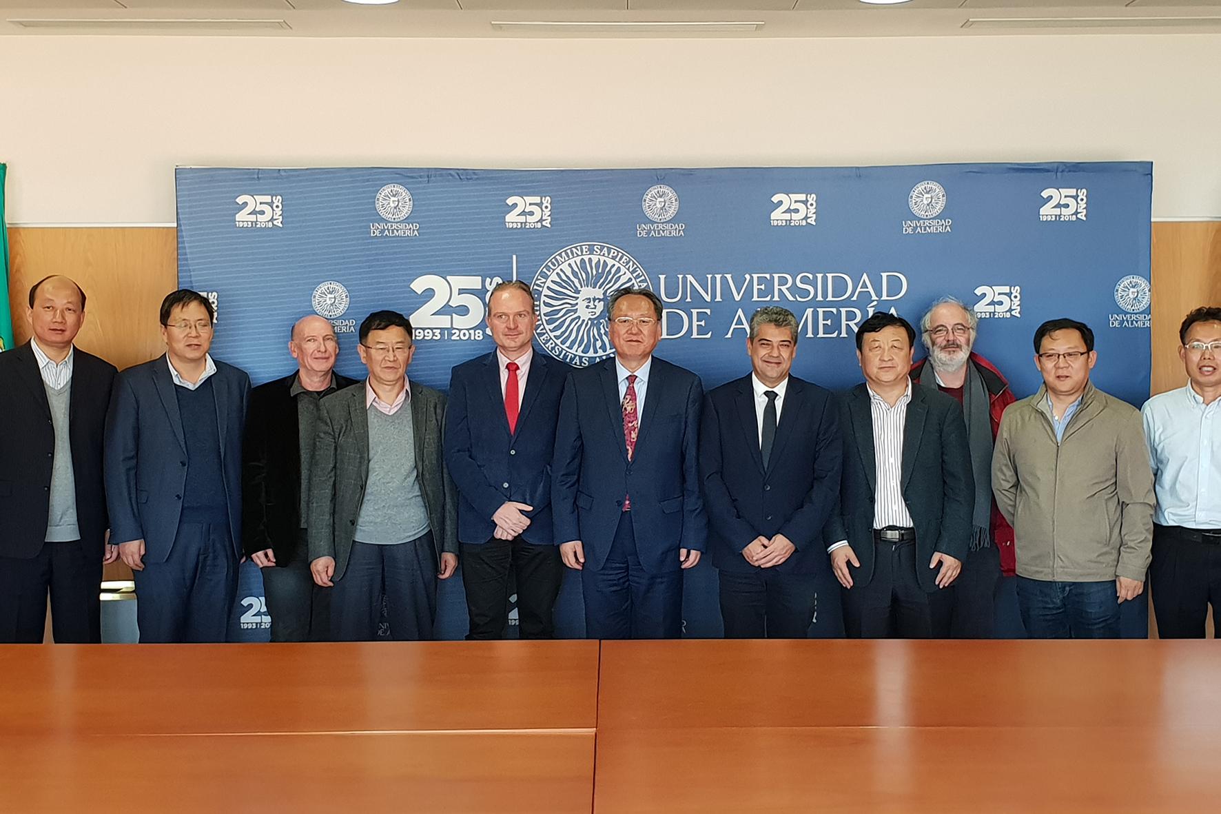 Una delegación china propone a la UAL una 'red de universidades por la agricultura'