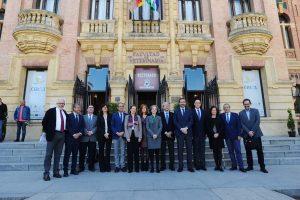 Primera reunión entre el consejero de Economía, Conocimiento, Empresas y Universidad con los rectores y rectoras de las Universidades Públicas de Andalucía