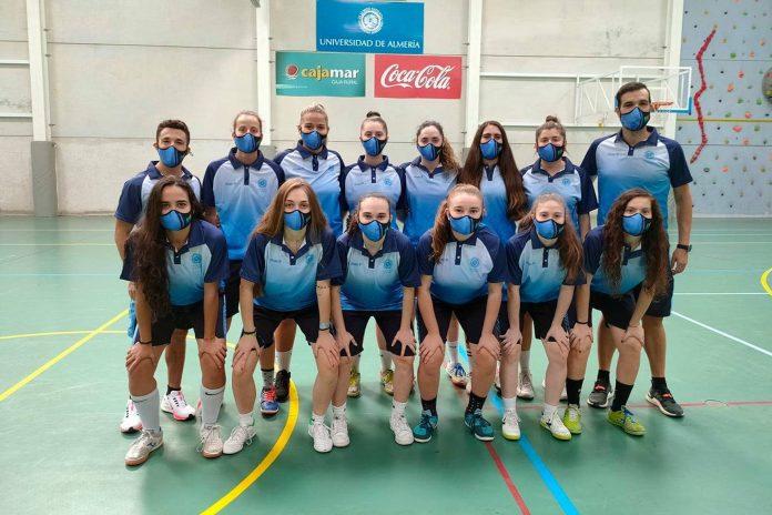 Ilusión en el debut de la selección femenina de fútbol sala de la UAL en un Campeonato de España Universitario